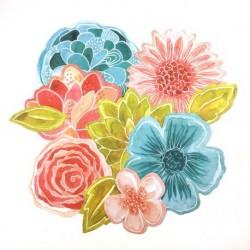 Die cuts Fleurs Le jardin...