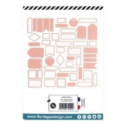 Etiquettes ROSE CORAIL -...