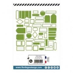 Etiquettes VERT FEUILLAGE -...