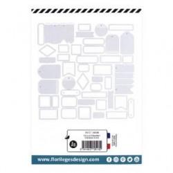 Etiquettes BLEU ACIER -...