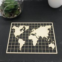 Carte du monde en carton bois