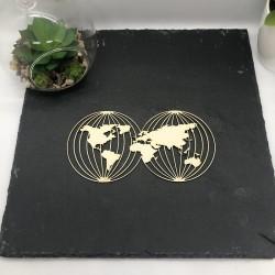 Carte du monde 2 en carton...