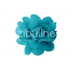 Fleur chiffon - PETROLE