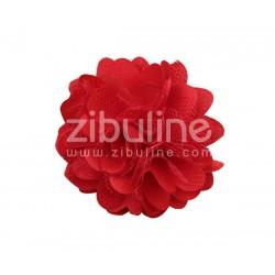 Fleur dentelle - ROUGE