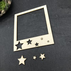 Polaroid étoile en carton...