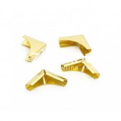 Coins métal - plein doré