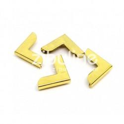 Coins métal - simple doré