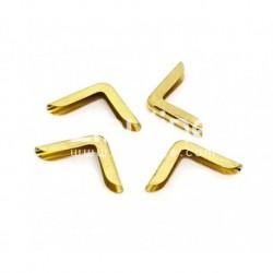Coins métal - simple fin doré