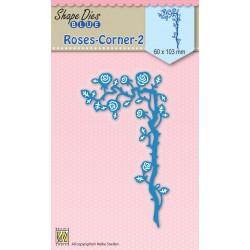 Matrice de coupe coin de roses