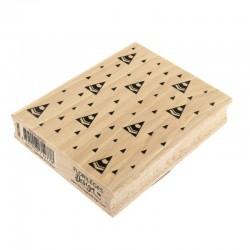 Sapins stylisés tampon Bois