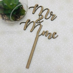 CAKE TOPPER MARIAGE MR & Mme