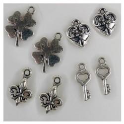 8 Breloques charms métal...