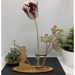 Support Vase Fée en Bambou