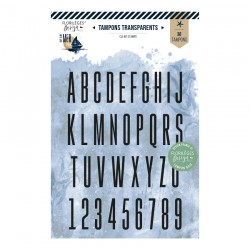 Tampon clear ALPHABET FIN...