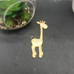 Girafe en carton bois adhésif