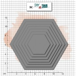 Dies Basik : Hexagones -...