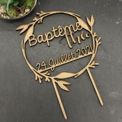 CAKE TOPPER BAPTEME...