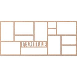 Cadre Famille 27x60 cm