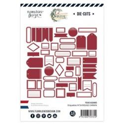 Etiquettes Rouge Carmin -...